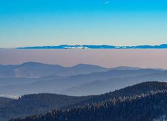 Insolite Stosswihr 68140 Vallée de Munster dans la brume ( massif du Hohneck).