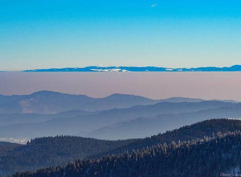 Vallée de Munster dans la brume ( massif du Hohneck).