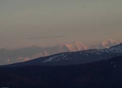 Les Alpes vue des Hautes Vosges