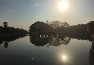 Chaleur Sukhothai Lever de soleil