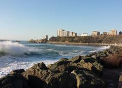 Mer Biarritz 64200 Fin de journée à la côte des Basques