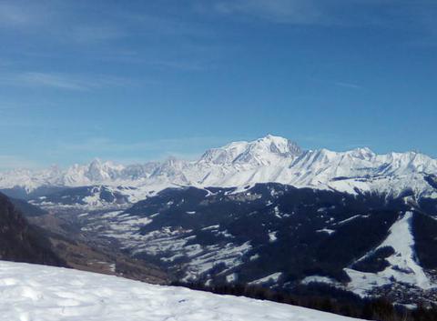 Mont blanc ciel bleu