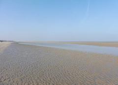 Mer Leffrinckoucke 59495 La plage et la Mer du Nord - dans la matinée, jeudi 16/03.
