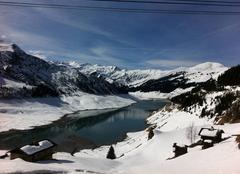 Neige Beaufort 73270  Lac de roselend