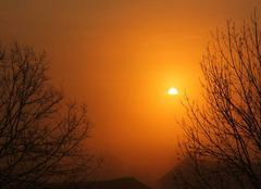 Lever de Soleil ce mercredi 22 mars à 7 h 15sur St Lézer.