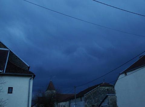 Formation d'un orage