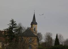 Tests du A 350-1000 au dessus de St Lézer ce Vendredi 24 Mars 2017 à 12 h 07.