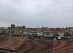Ciel gris cet après-midi sur Bourg-de-Péage, en bord d'Isère