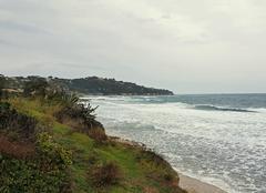 Mer Sainte-Maxime 83120 Une journée médiocre avec du vent dans le Golfe de St Tropez