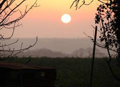 Ciel Bonnemaison 14260 Soleil dans la brume