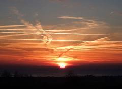 Chassés-croisés dans le ciel de la baie du Mt St Michel