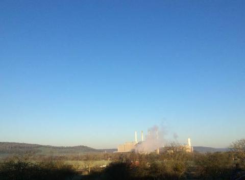 La centrale au petit matin