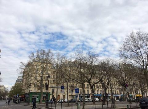 Des moutons dans le ciel parisien