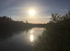 Ciel Romans-sur-Isere 26100 L'Isère au soleil couchant