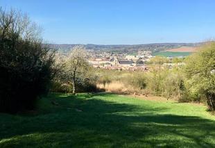 Ciel Pont-à-Mousson 54700 Vue de l'abbaye des Prémontrés