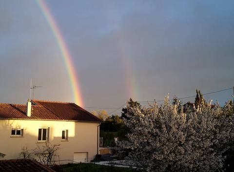 Arc en ciel de printemps