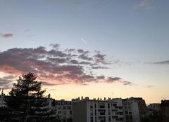 Ciel Bois-Colombes 92270 Dimanche soir ciel Nord-ouest