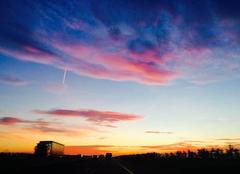 Ciel Ormoy-Villers 60800 Couche de soleil