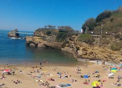 Mer Biarritz 64200 Tempête de ciel bleu et soleil à gogo