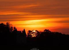 Ciel Saint-Sorlin-en-Bugey 01150 Couché de soleil