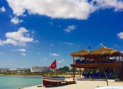 Nuages Djerba Vue sur le Port d'Aghir sur l'île de Djerba