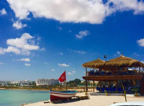Vue sur le Port d'Aghir sur l'île de Djerba