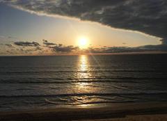 Mer Biscarrosse 40600 Coucher de soleil