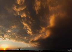 Nuages Saint-Vulbas 01150 La plaine de l'ain joue au grandes plaines americaines