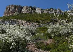 Chaleur Solutre-Pouilly 71960 Très beau temps à la Roche de Solutré