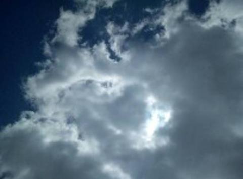 Ciel du stade en direction du soleil
