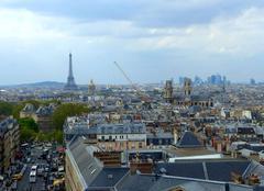 Ciel Paris 75000 Paris sous les nuages, depuis le dôme du Panthéon