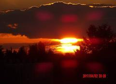 Ciel Niort 79000 Coucher de soleil au Clou Bouchet
