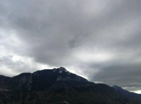 Couche nuageuse avec vent..