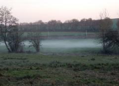Brouillard Bruxelles Levé de brume dans la campagne bourguignone