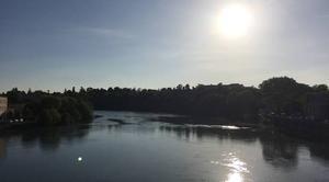 Ciel Romans-sur-Isere 26100 Quais d'Isère sous soleil et vent du Sud