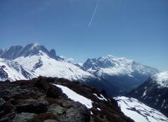 Ciel Chamonix-Mont-Blanc 74400  une belle journée