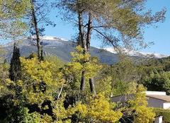 Neige Roquefort-les-Pins 06330 Neige de Printemps dans l'arrière pays de GRASSOIS