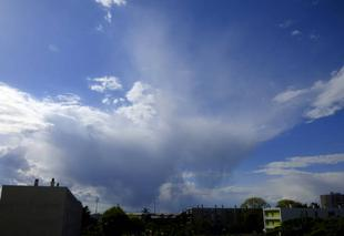 Ciel Niort 79000 Virga sur l'ouest de Niort