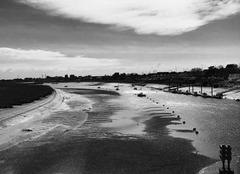 Mer Cabourg 14390 Noir et blanc