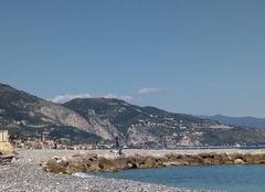 Mer Roquebrune-Cap-Martin 06190 Carnolès Plage - Beau temps