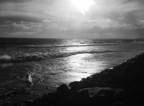 Tempête sur belle plage