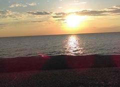 Mer Capbreton 40130 Coucher de soleil