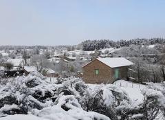 Neige Saint-Symphorien 48600 La neige du premier Mai 2017