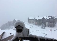Neige Guillestre 05600 Il neige sur Risoul 1850 un 1 Mai