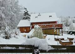 Neige Le Noyer 05500 1er mai enneigé dans le Champsaur
