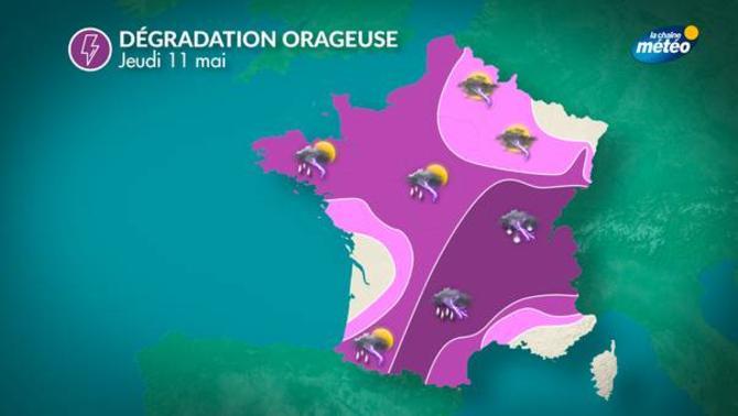 Actualit m t o demain averses et orages au programme - Meteo orleans demain ...