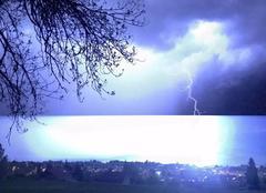 Orage Evian-les-Bains 74500 Orages sur le lac Léman