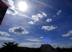 Ciel Niort 79000 Journée estivale