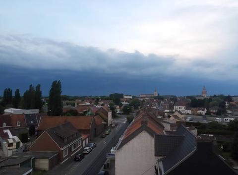 Arrivée orage 21h20