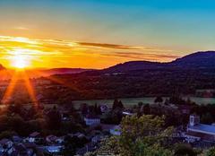 Ciel Villebois 01150 Couche de soleil du bugey
